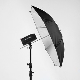130 cm umbrella black(Outter surface ) and White (inner surface) with soft cloth (Diffuser)