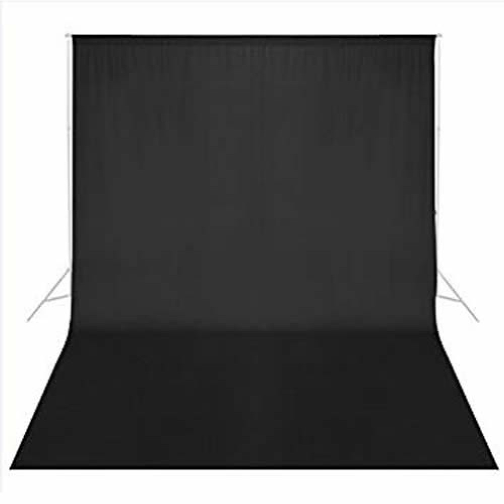 BLACK STUDIO COTTON BACKGROUND BACKDROP 3 X 6M
